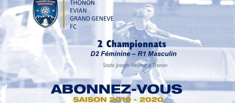 Thonon Evian Grand Genève Football Club - lancement abonnement