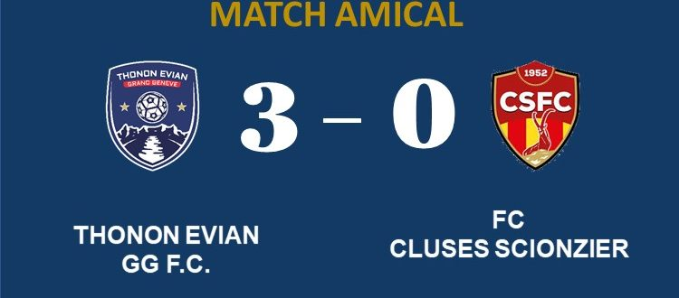 Thonon Evian Grand Genève Football Club - score match amical