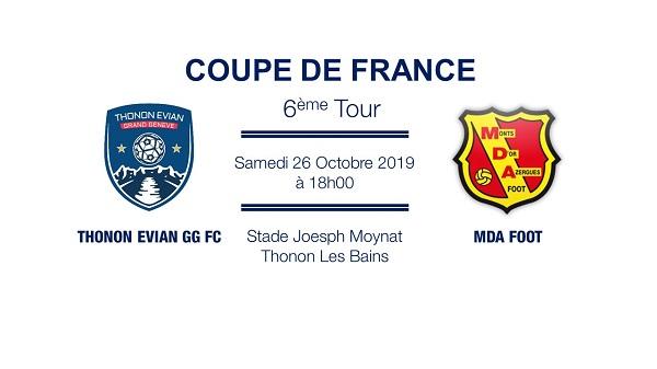Thonon Evian Grand Genève Football Club - TEGGFC-MDA COUPE