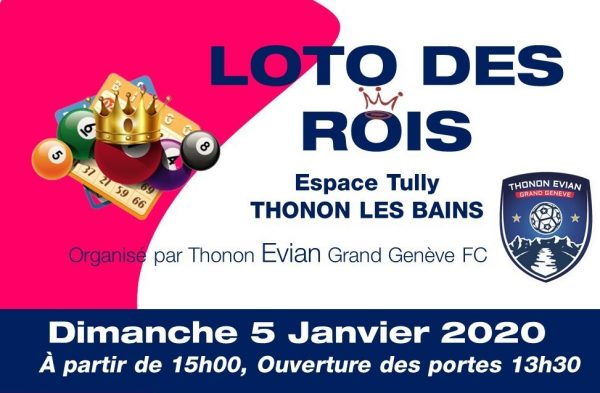 Thonon Evian Grand Genève Football Club - AFFICHE LOTO - pre vente
