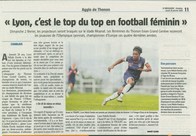 Thonon Evian Grand Genève Football Club - LEMESSAGER 2020-01-24-2